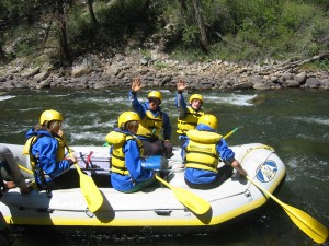 Shining Mountain students gain valuable skills negotiating rapids while learning geology of Brown's Canyon