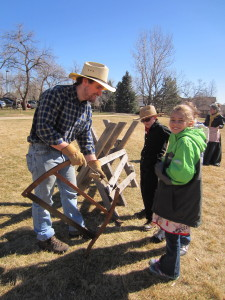 Students realize how hard it is to prepare wood for a warm homestead...especially during Colorado winters!
