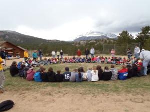 Aspen Creek Elementary 5th grade outdoor classroom - Hidden Room! Creek Adventures! Yummy Food! Fun!