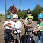 Team belay!  Students understand their role in supporting each other